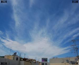 Cirrus Spissatus clouds malta Altocumulus perlucidus clouds undulatus Cirrus fibratus clouds