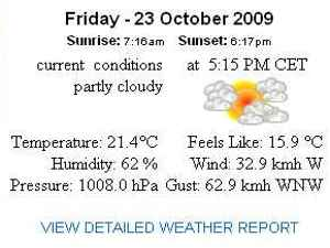 malta weather conditions 23 october 2009