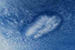 palm beaches florida usa america hole punch clouds fallstreak hole clouds formed from cirrocumulus altocumulus