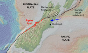 New Zealand Alpine Fault Earth expansion expanding