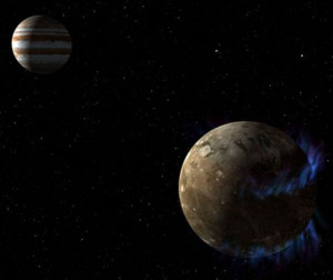 Jupiter and its moon Ganymede have an electromagnetic circuit
