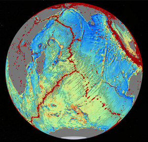 growing earth evidence sea floor spreading india