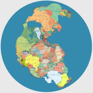 pangea earth bigger planet smaller globe